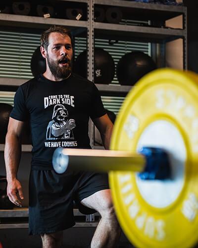 Florian Mock als Athlet und Kunde bei Wils Athletics